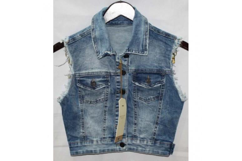 Джинсовые жилетки Crackpot jeans 6240 a