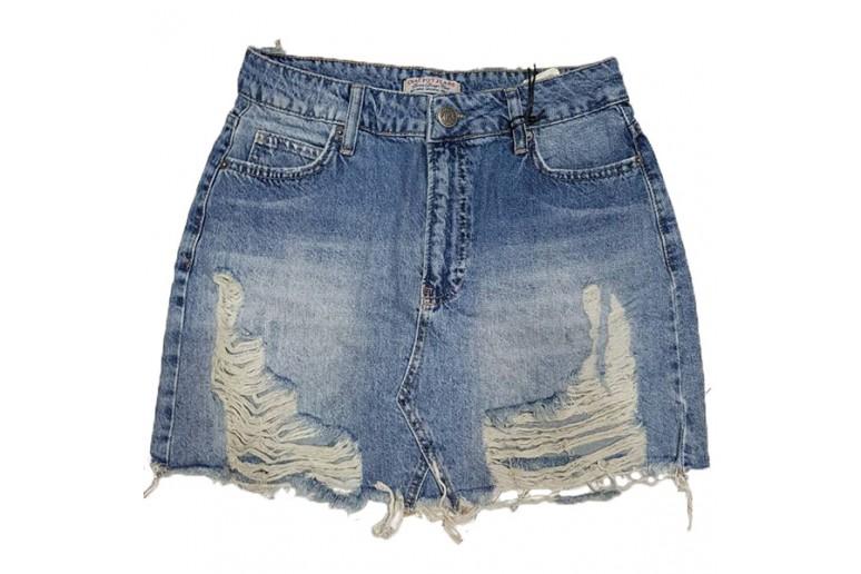 Джинсовая юбка Crackpot jeans 5003p